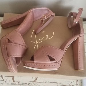 Joie 8 (38.5) Dusty Buff High Heels Excellent Cond
